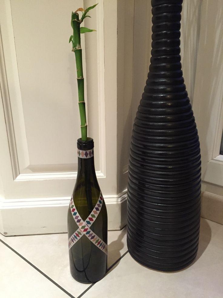 vase en bouteille de vin diy diy pas pas pinterest bricolage et vase. Black Bedroom Furniture Sets. Home Design Ideas