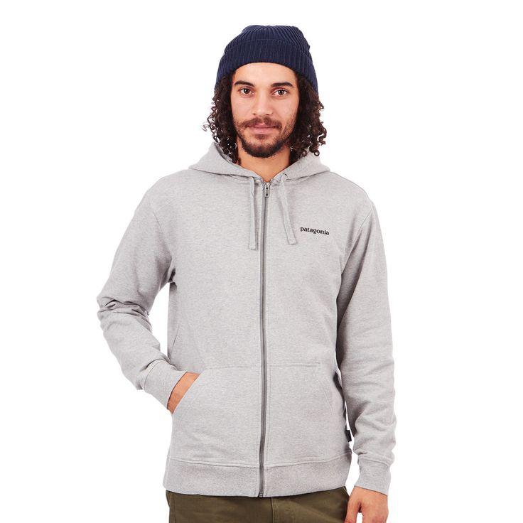 Patagonia - P-6 Logo Midweight Full Zip-Up Hoodie (Feather Grey) günstig online kaufen bei hhv.de - Zip Hoody Herren von Top-Marken verfügbar in unserem Online-Shop - Versandkostenfrei bestellen ab 80€!