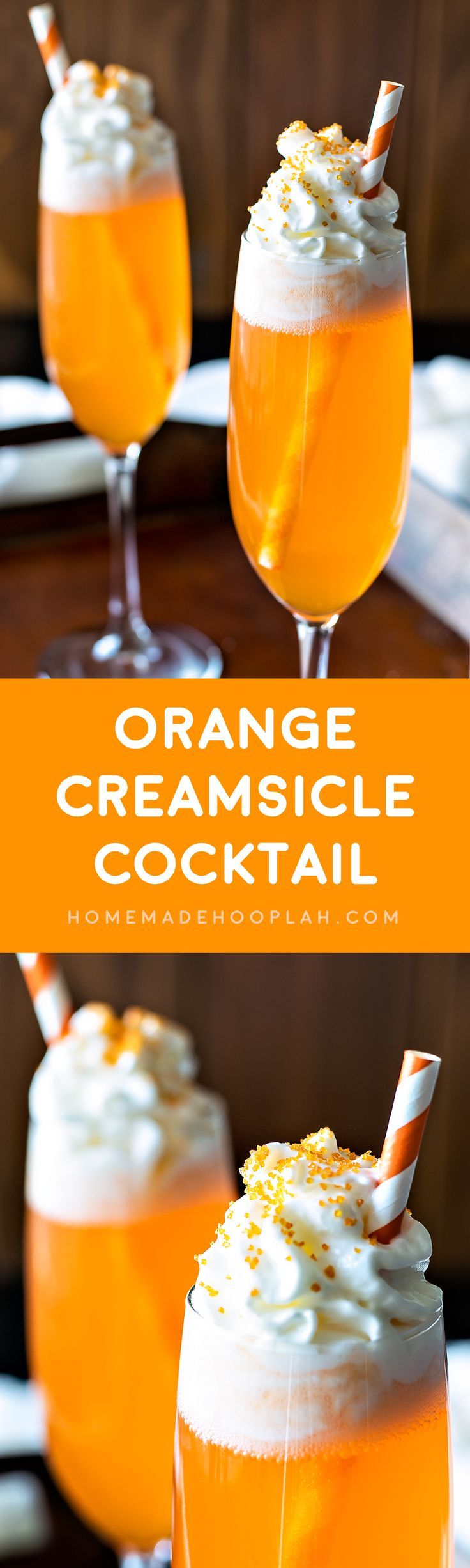 Orange Creamsicle Cocktail! If you like the popsicle, you'll love this cocktail!