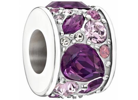Chamilia Mosaic with purple Swarovski Crystals