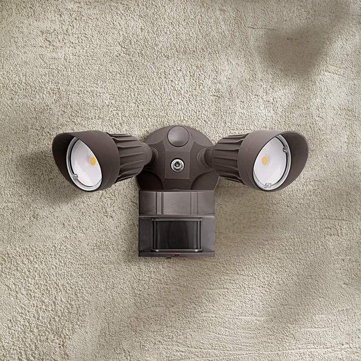 "Eco-Star 13""W Bronze Motion Sensor 3000K LED Security Light - #9X860 | Lamps Plus"