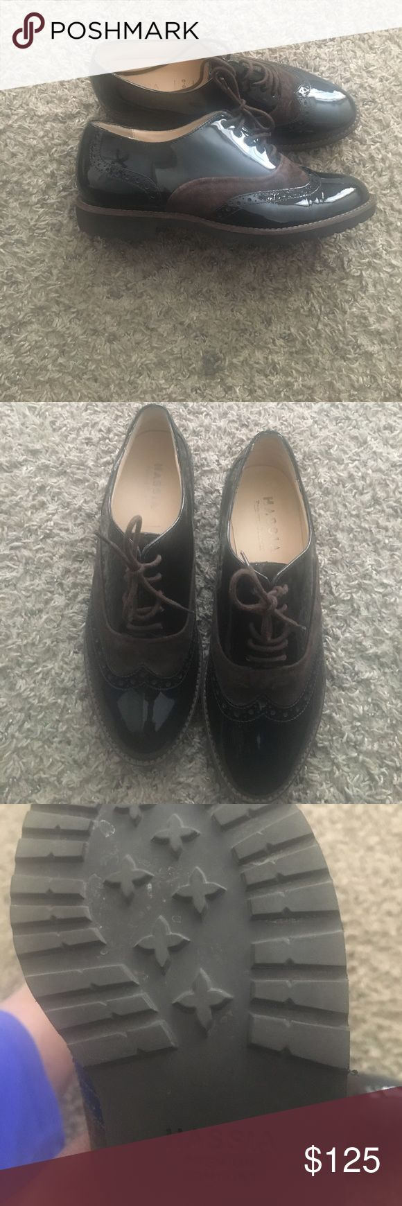 HASSIA Black and Brown Loafers Gorgeous, excellent, condition  shoes! Hassia Shoes Flats & Loafers