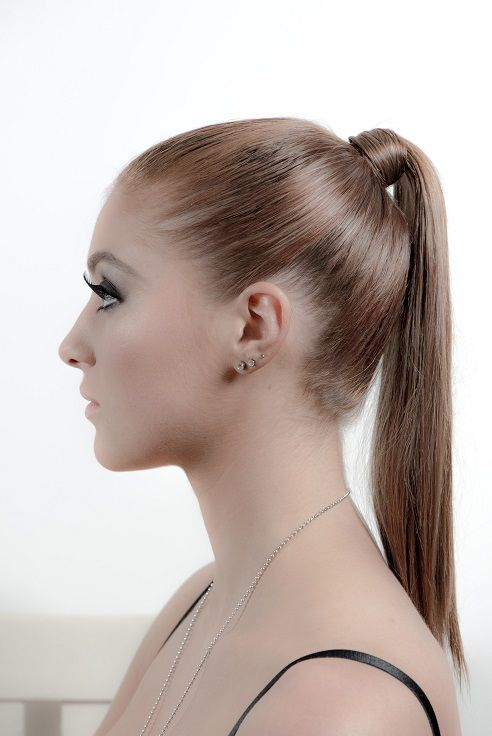 Sleek ponytail hair and makeup photoshoot. Melbourne Hairdresser Instyle Hair by Janelle, 0422 327 176