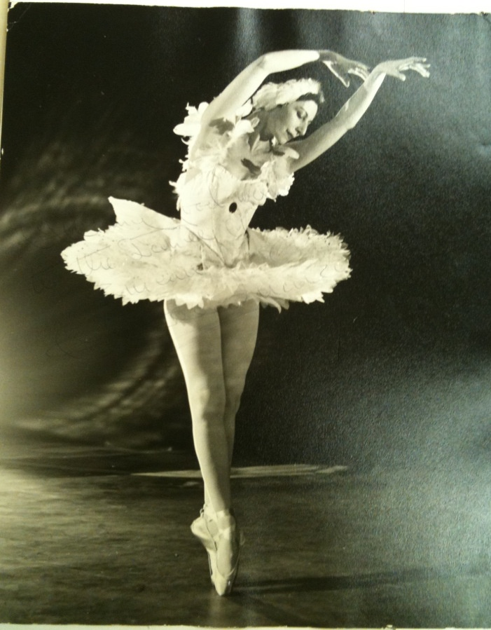Alicia Markova from 'Swan Lake' or 'The Dying Swan,' 1954. Photograph by Jake Blake. Inscribed.