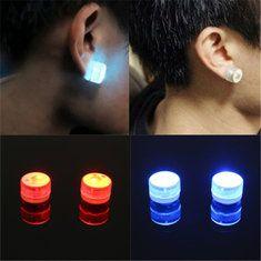 #Banggood LED Магнитные мигающие световые до Bling уха шпильки танец партии серьги пирсинг нет (992432) #SuperDeals
