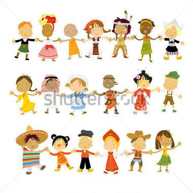 Crianças Multiculturais Trajes Tradicionais imagem vetorial - Clipart.me