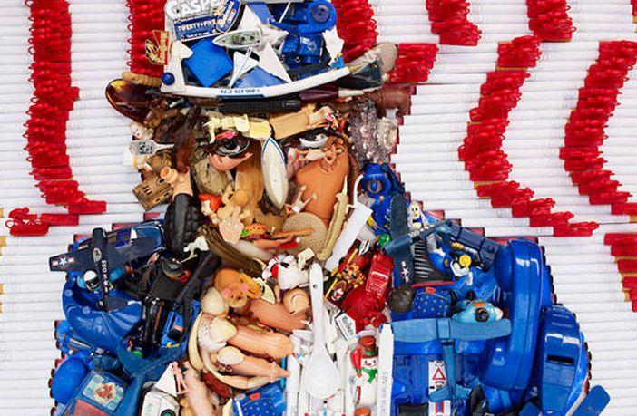 Kunstenaar gebruikt afval om wereldberoemde kunstwerken na te maken