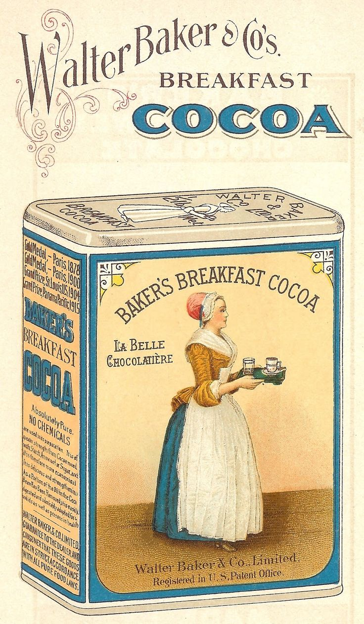 1923 Baker's Chocolate and Cocoa Images