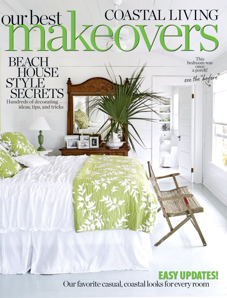 Green And White Bedroom. For Our Guest Room, I Like A Big Green Painting  Above The Bed