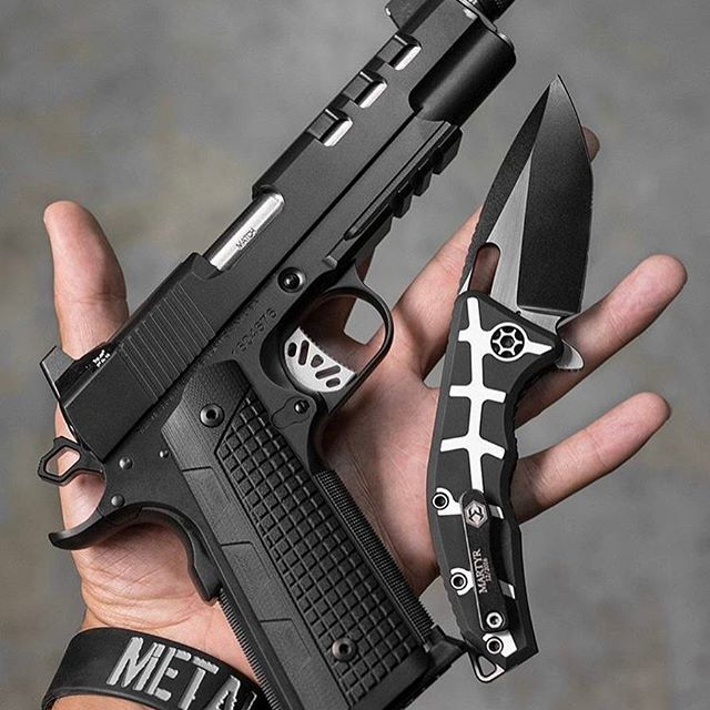 Blackout 1911 @metalhead_1 #Regram via @uniqueweapons