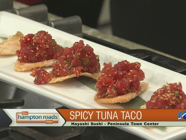 ... Grill at Peninsula Town Center made spicy tuna tacos. | Pinterest