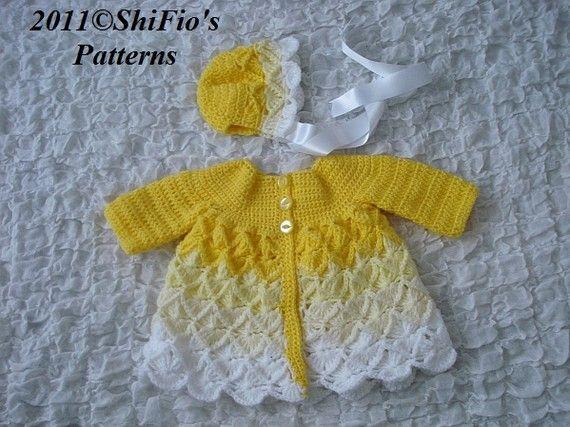 PATTERN in PDF Crochet Patterns Baby Jacket Bavarian by shifio