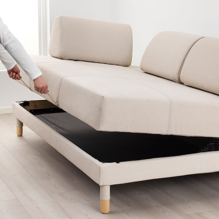 FLOTTEBO Vissle beige, Sofa bed, 120 cm   IKEA in 2020 ...
