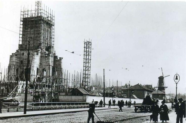 Rotterdam, Town Hall under construction, 1914-1920.   De bouw van het stadhuis aan de Coolsingel, tussen 1914 en 1920