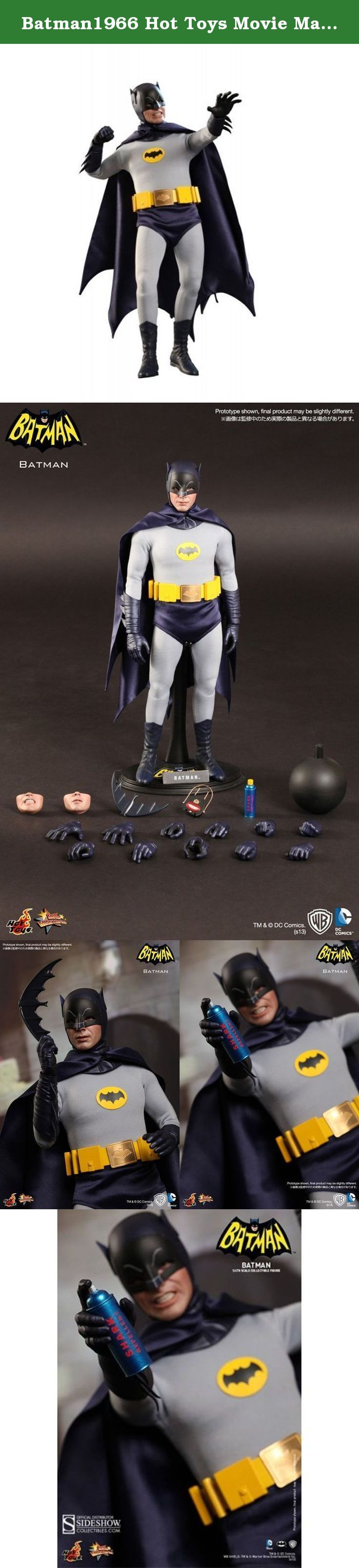 Batman1966 Hot Toys Movie Masterpiece 1/6 Scale Collectible Figure Batman. Hot Toys is excited to introduce the 1/6th scale Batman Collectible Figure from the 1966 feature film. The collectible figure is newly developed and highly detailed, which is specially crafted based on the image of Adam West as the iconic character Batman, featuring a screen-accurate masked head sculpt, specially made costume with Batman logo, weapons and accessories.Specifications.