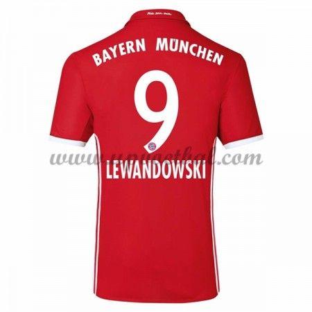 Bayern Munich 2016-17 Lewandowski 9 Thuis Tenue Goedkope Voetbalshirts Clubs