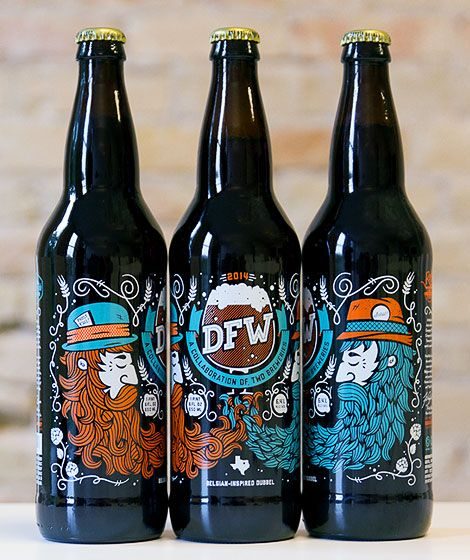 DFW: a collaboration between Lakewood Brewery and Rahr & Sons Brewing in the Dallas-Fort Worth area.