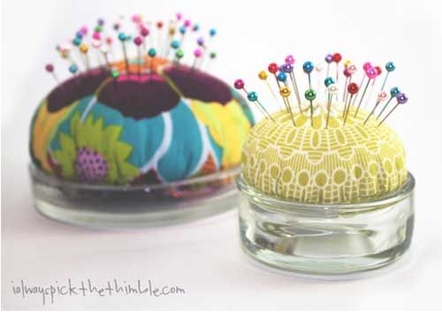 Tea Light & Candle Plate Pincushions @Adrienne Raptis-To-Sew.com