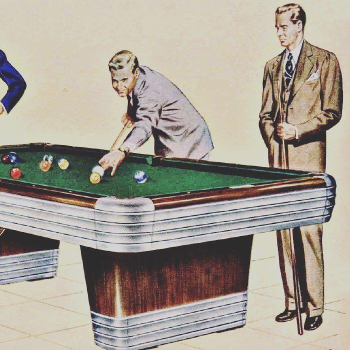#Brunswick Centennial American pool table original advertising.  #vintage #retro #classic #original #pooltable #rare #design #interiordesign #gamesroom #mancave #advertising