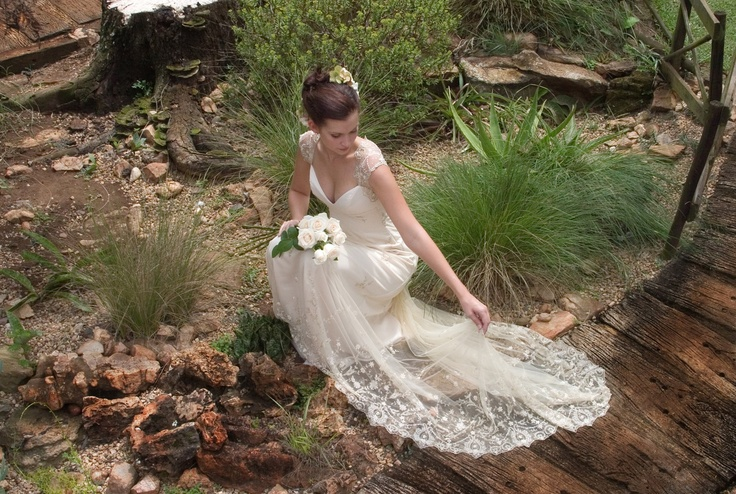 Antique lace wedding gown by Carita Adams http://www.facebook.com/caritabridal