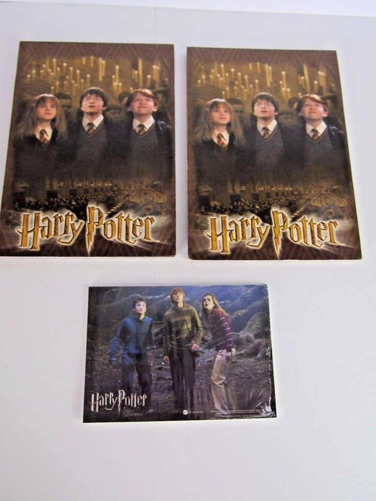 Official Harry Potter Writing Paper 2001 + Order of the Phoenix Movie cards