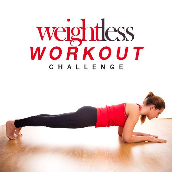 Weightless Workout Challenge - no equipment necessary!  #bodyweight #workoutchallenge