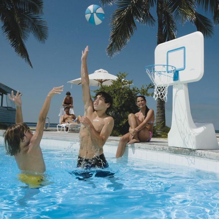 Have to have it. Dunn Rite PoolSport Portable Pool Basketball Hoop - $129.98 @hayneedle.com