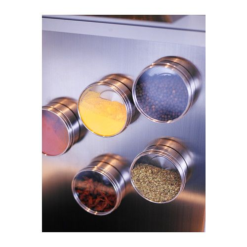 Keep spices nearby with GRUNDTAL magnetic containers!