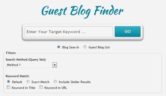 Free Guest Blog Finder Tool