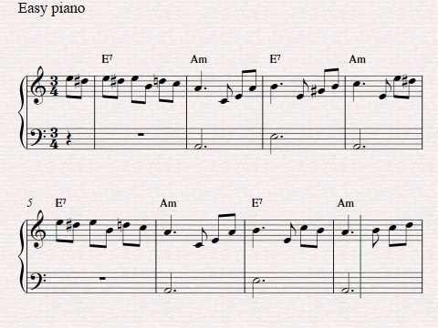 Free easy piano sheet music - Fur Elise - YouTube