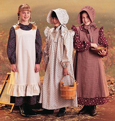 Girls' Pioneer Costumes