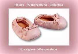 Heless Puppenschuhe, Ballettschuhe, rosa Ballerinas für Puppen von 38  bis 45 cm - Bild vergrößern