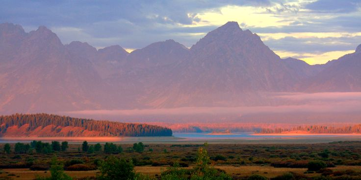 Early morning in September from near Oxbow Bend