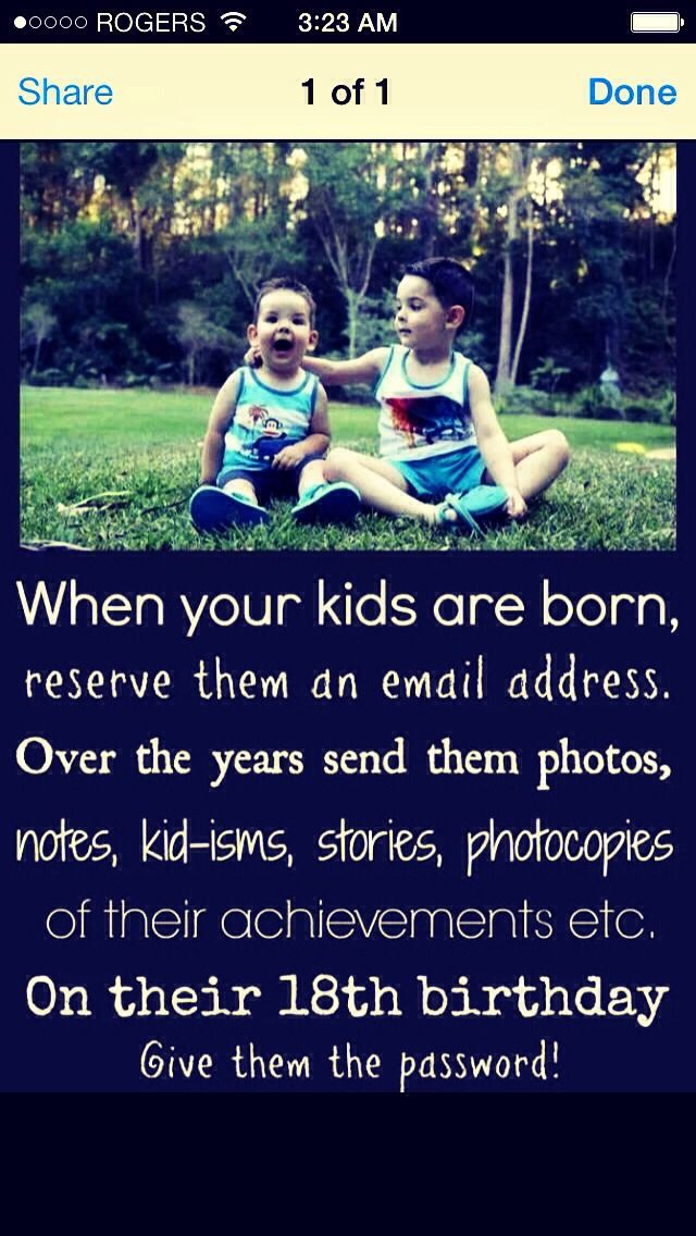 Okay that is pretty cool...I am so doing this for all 7 of my children!!! I've got some catching up to do!!!!
