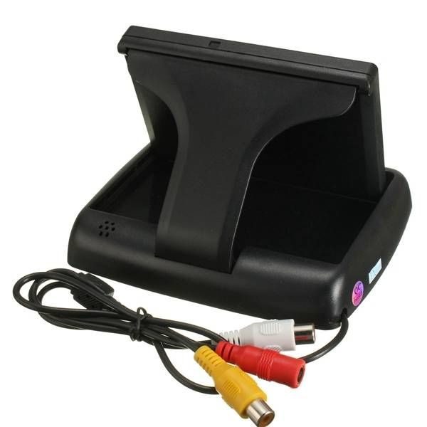 Car Wireless IR Rear View Backup Reversing Camera Kit Foldable LCD 4.3 Inch Monitor Sale - Banggood.com