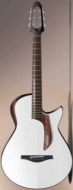 """Verdinero """"Saie"""" acoustic electric Guitar --- https://www.pinterest.com/lardyfatboy/ Confira aqui http://mundodemusicas.com/lojas-instrumentos/ as melhores lojas online de Instrumentos Musicais."""