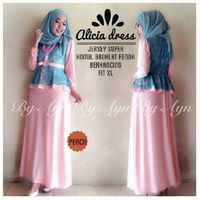 alicia dress peach
