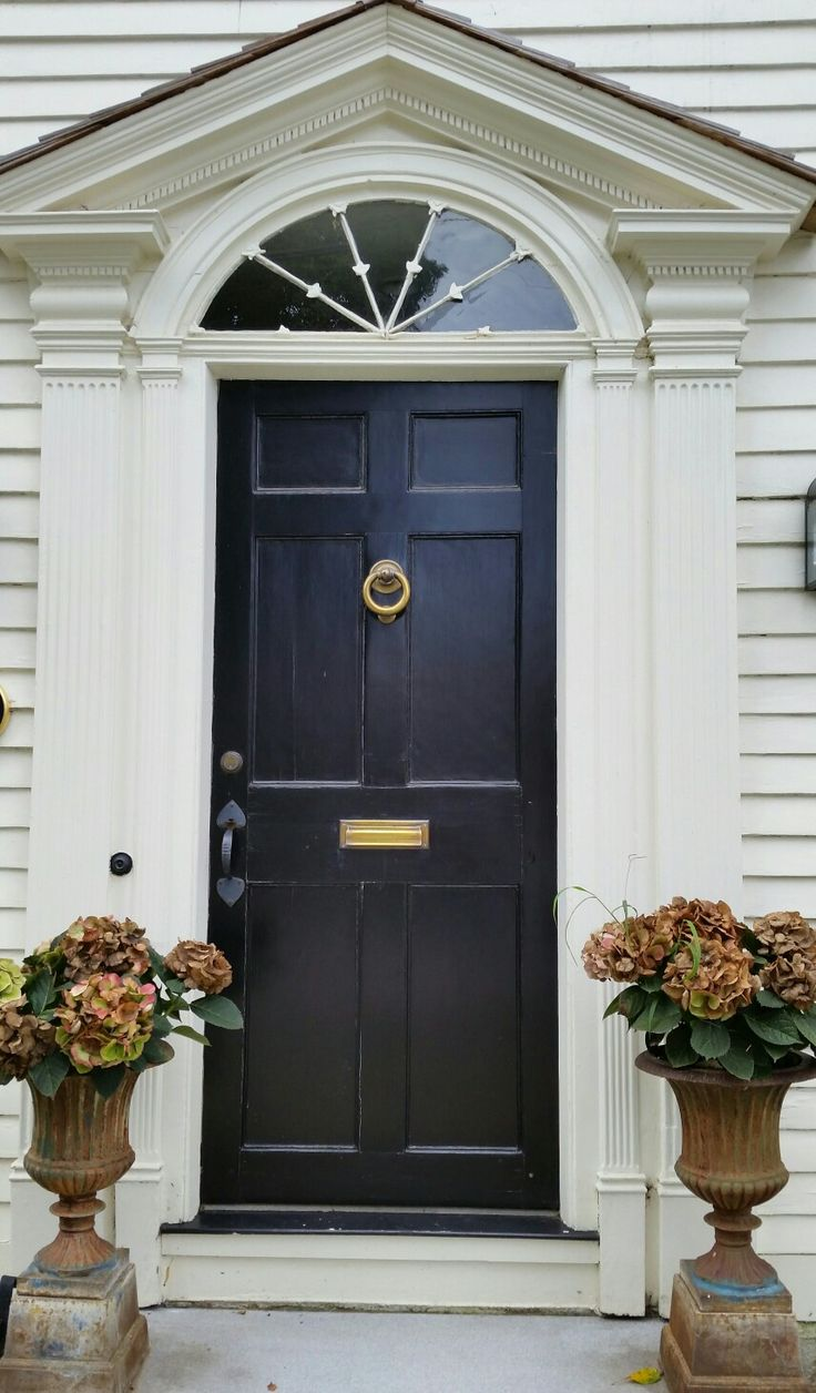 602 best entryways images on pinterest facades front for Front doors for colonial homes