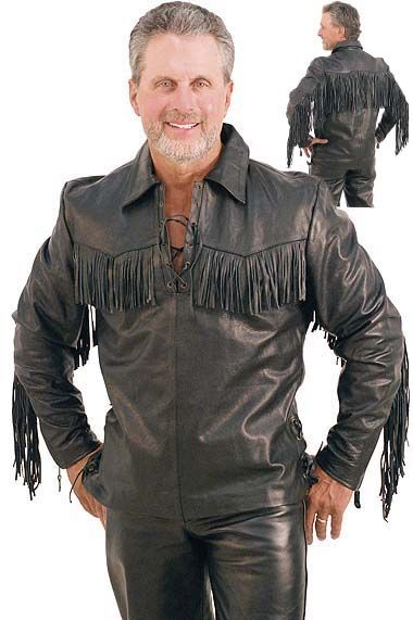 13 best men 39 s shirts leather more images on pinterest for Mens shirts with leather