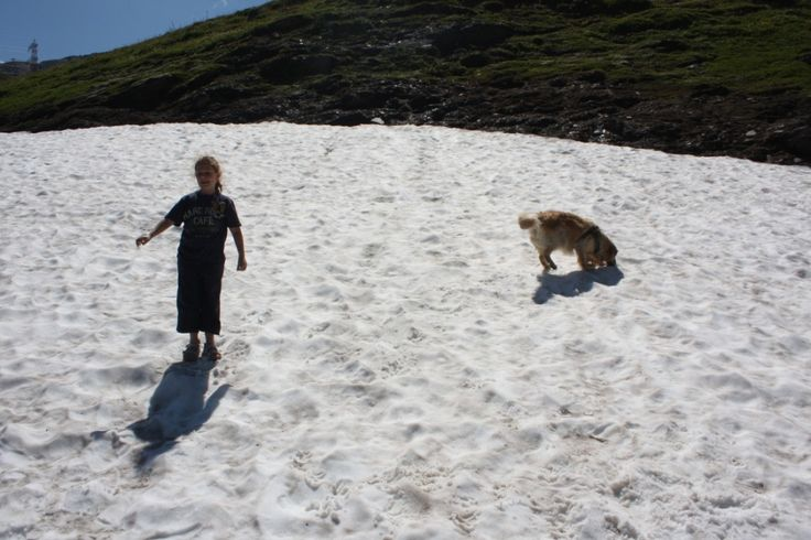 giochi sul ghiacciaio ad agosto 2013