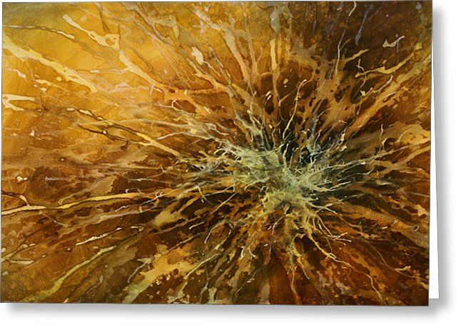 Abstract Design 25 Greeting Card by Michael Lang