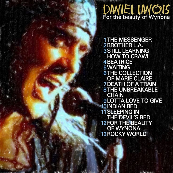 DANIEL LANOIS - For the beauty of Wynona CD COVER
