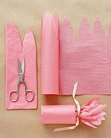 tissue paper wrapping, cute.