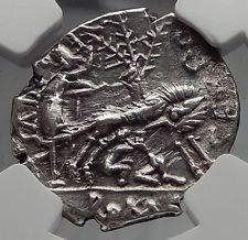 Roman Republic Rome  WOLF Romulus Remus TWINS  Ancient Silver Coin NGC i60087