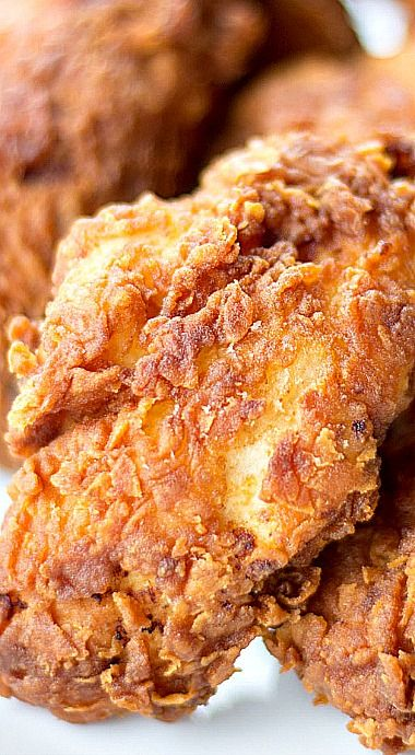 The Best Crispy Fried Chicken Recipe:  Adapted from Cooks Illustrated