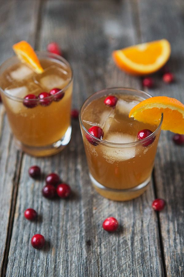 Cranberry Orange Dark and Stormy Cocktails | FoodforMyFamily.com @foodformyfamily