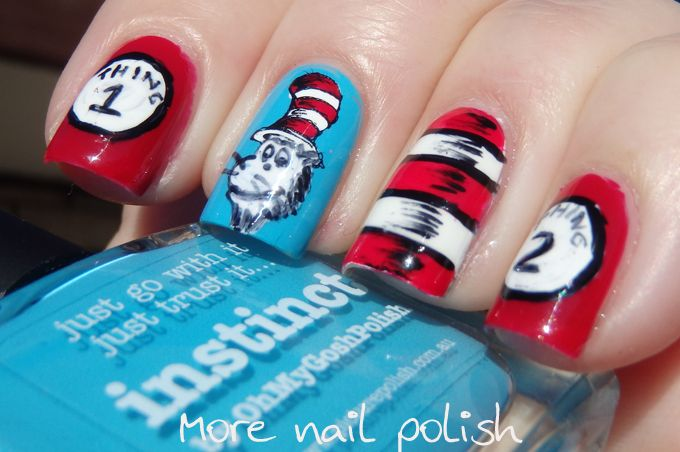 31DC2014: Inspired by a book: The Cat in the Hat Comes Back ~ More Nail Polish