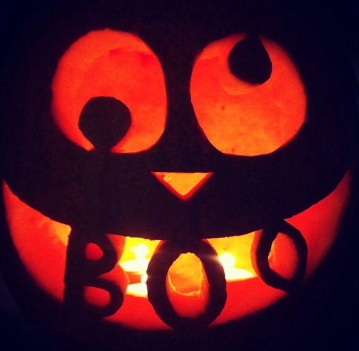 Halloween pumpkin carving Sweet and fun Ghostly boo!