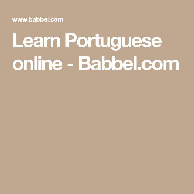 Learn Portuguese online - Babbel.com