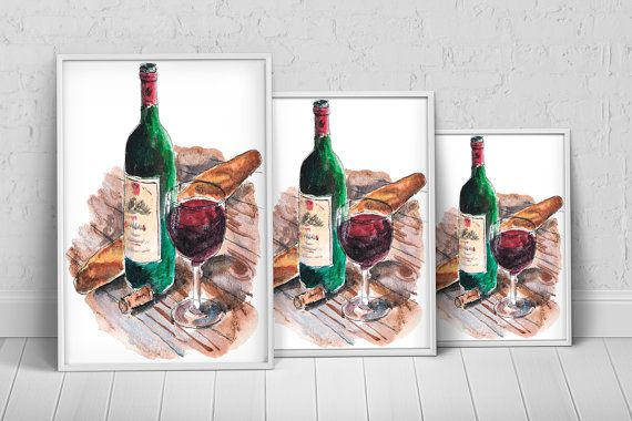 Summer Wine Art Print Poster on Etsy, $27.35 AUD